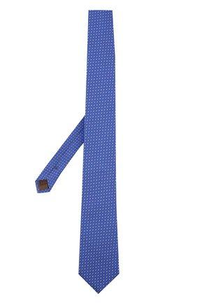 Шелковый галстук с узором Church's синего цвета | Фото №1