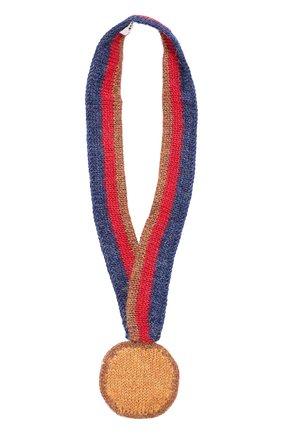 Вязаная игрушка Медаль Oeuf светло-коричневого цвета | Фото №1