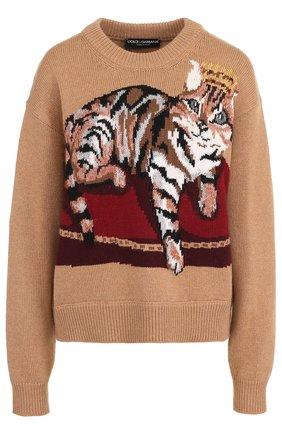 Кашемировый пуловер с принтом