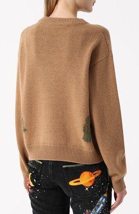 Кашемировый пуловер с принтом Dolce & Gabbana бежевый | Фото №4
