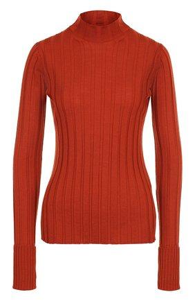 Шерстяной облегающий свитер | Фото №1