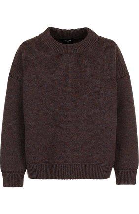 Шерстяной свитер свободного кроя   Фото №1