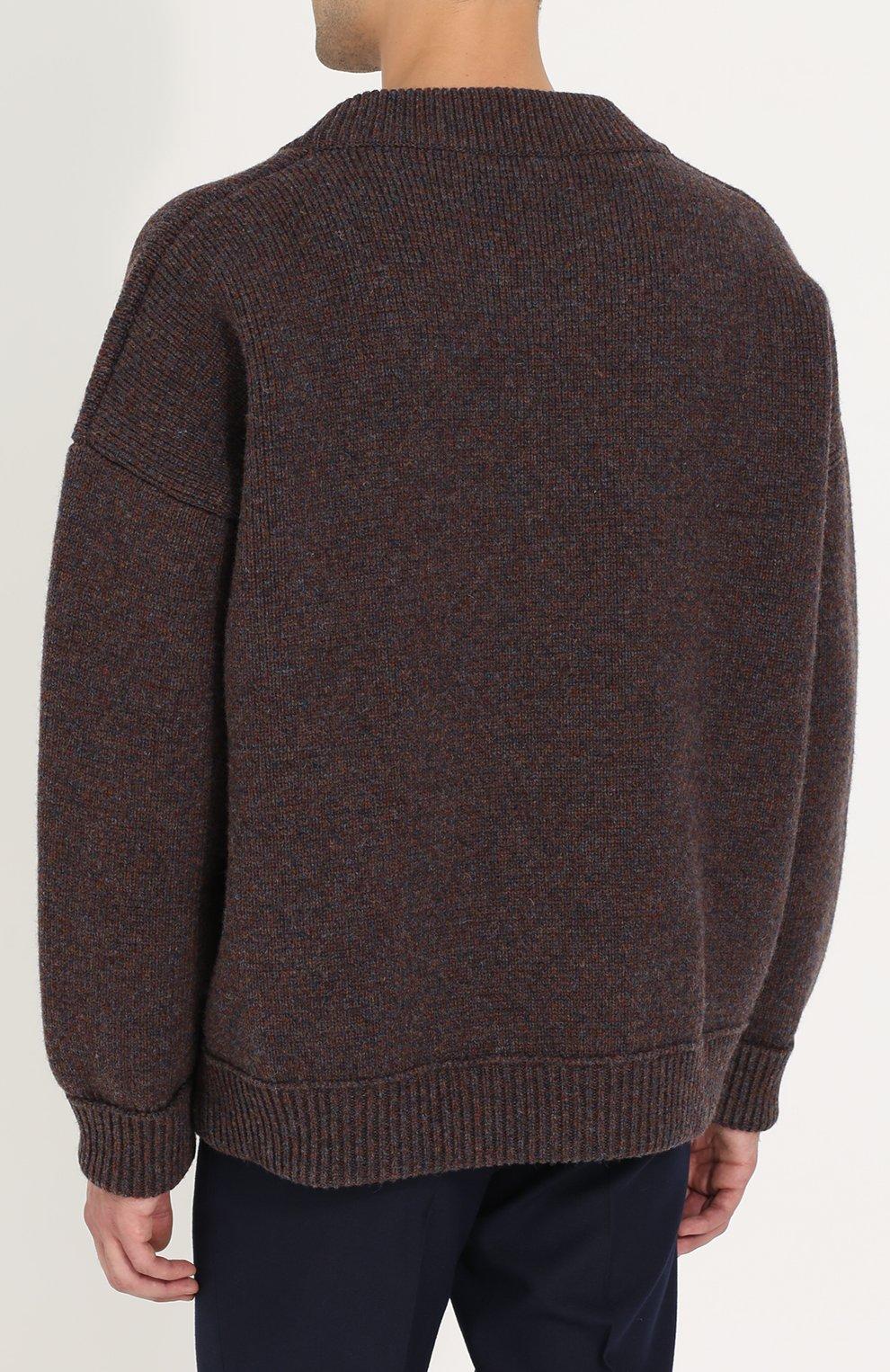 Шерстяной свитер свободного кроя   Фото №4