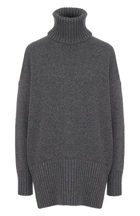 Удлиненный кашемировый свитер Dolce & Gabbana темно-серый | Фото №1