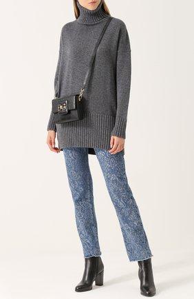 Удлиненный кашемировый свитер Dolce & Gabbana темно-серый | Фото №2