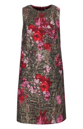 Жаккардовое мини-платье без рукавов Dolce & Gabbana розовое | Фото №1
