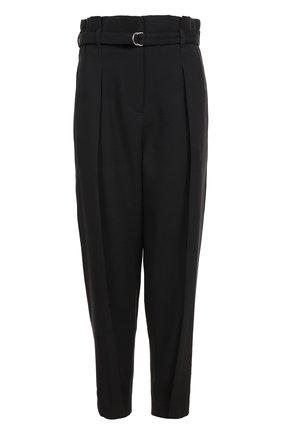 Укороченные брюки с завышенной талией и поясом | Фото №1