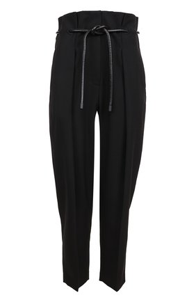 Укороченные брюки с завышенной талией и поясом 3.1 Phillip Lim черные | Фото №1