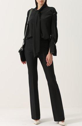 Женская шелковая блуза с воротником аскот 3.1 Phillip Lim, цвет черный, арт. F171-2674TEM в ЦУМ | Фото №1