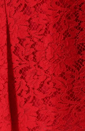 Кружевная юбка-карандаш с разрезом Dolce & Gabbana красная | Фото №5