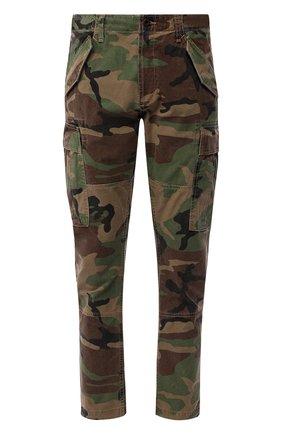 Мужские хлопковые брюки-карго POLO RALPH LAUREN хаки цвета, арт. 710671176   Фото 1