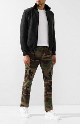 Мужские хлопковые брюки-карго POLO RALPH LAUREN хаки цвета, арт. 710671176   Фото 2