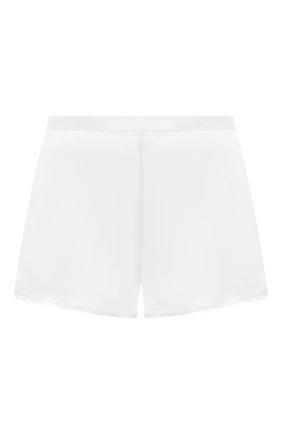 Шелковые мини-шорты с эластичным поясом | Фото №1