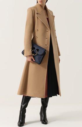 Кашемировое двубортное пальто Gabriela Hearst бежевого цвета | Фото №1