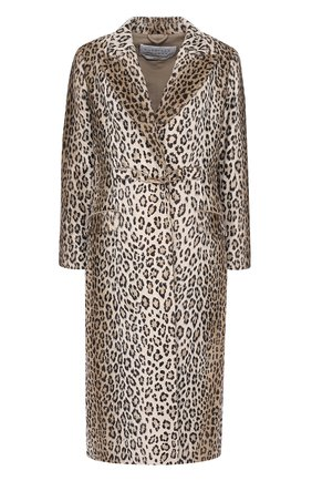 Приталенное пальто с леопардовым принтом Gabriela Hearst леопардового цвета | Фото №1