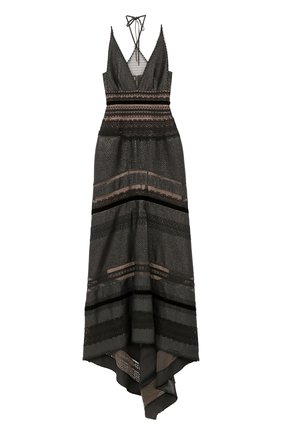 Приталенное платье-макси с подолом   Фото №1