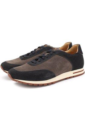 Замшевые кроссовки Week End Walk на шнуровке