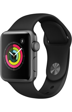 Смарт-часы Apple Watch Series 3 (GPS) 38mm Space Gray Aluminum Case with Black Sport Band | Фото №1