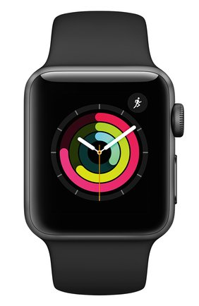 Смарт-часы Apple Watch Series 3 (GPS) 38mm Space Gray Aluminum Case with Black Sport Band | Фото №2