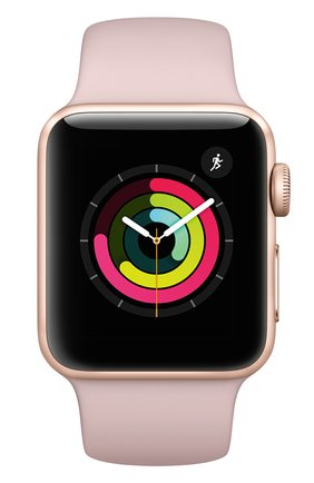 Смарт-часы Apple Watch Series 3 (GPS) 38mm Gold Aluminum Case with Pink Sand Sport Band | Фото №2