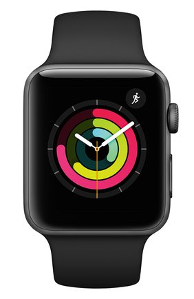 Смарт-часы Apple Watch Series 3 (GPS) 42mm Space Gray Aluminum Case with Black Sport Band | Фото №2