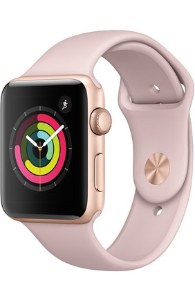 Смарт-часы Apple Watch Series 3 (GPS) 42mm Gold Aluminum Case with Pink Sand Sport Band | Фото №1