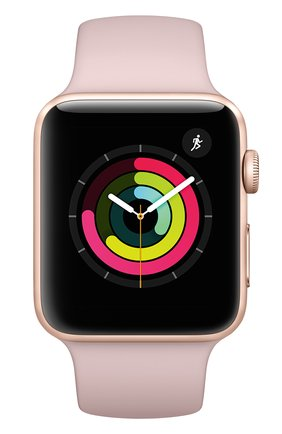 Смарт-часы Apple Watch Series 3 (GPS) 42mm Gold Aluminum Case with Pink Sand Sport Band | Фото №2