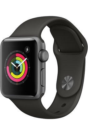 Смарт-часы Apple Watch Series 3 (GPS) 38 mm Space Gray Aluminum Case with Gray Sport Band | Фото №1
