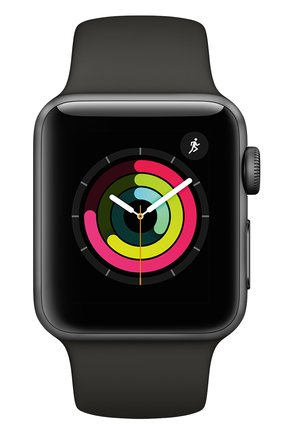 Смарт-часы Apple Watch Series 3 (GPS) 38 mm Space Gray Aluminum Case with Gray Sport Band | Фото №2