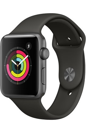 Смарт-часы Apple Watch Series 3 (GPS) 42 mm Space Gray Aluminum Case with Gray Sport Band | Фото №1