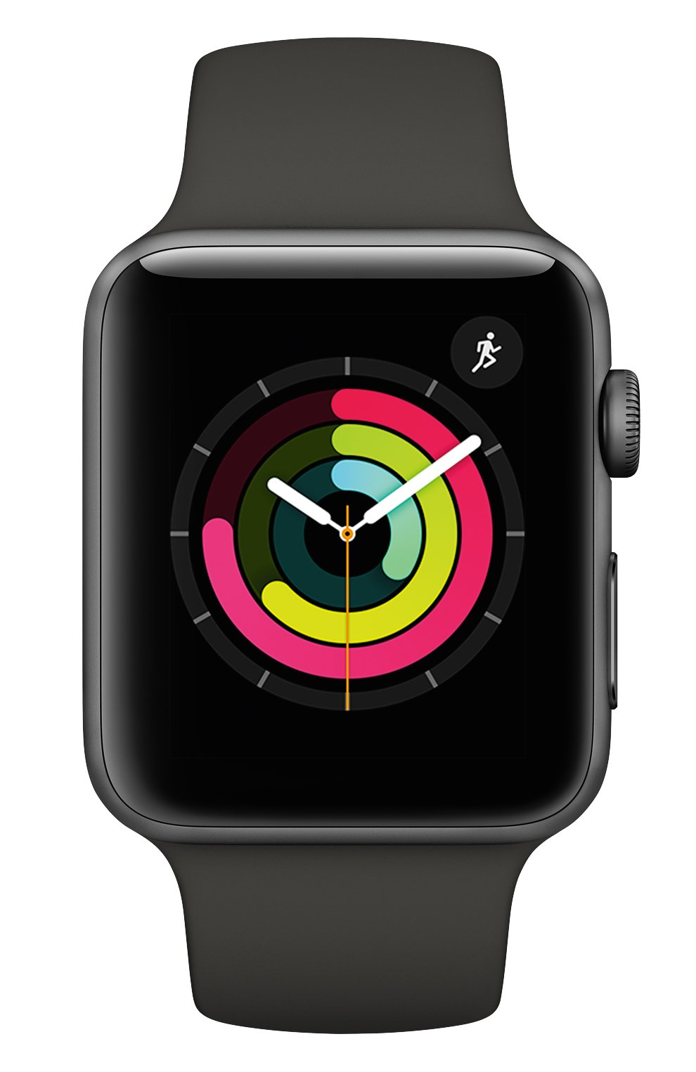 Apple Watch Series 3 (GPS) 42 mm Space Gray Aluminum Case with Gray Sport Band | Фото №2