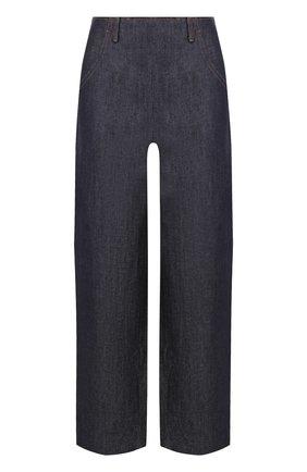 Укороченные джинсы с завышенной талией | Фото №1