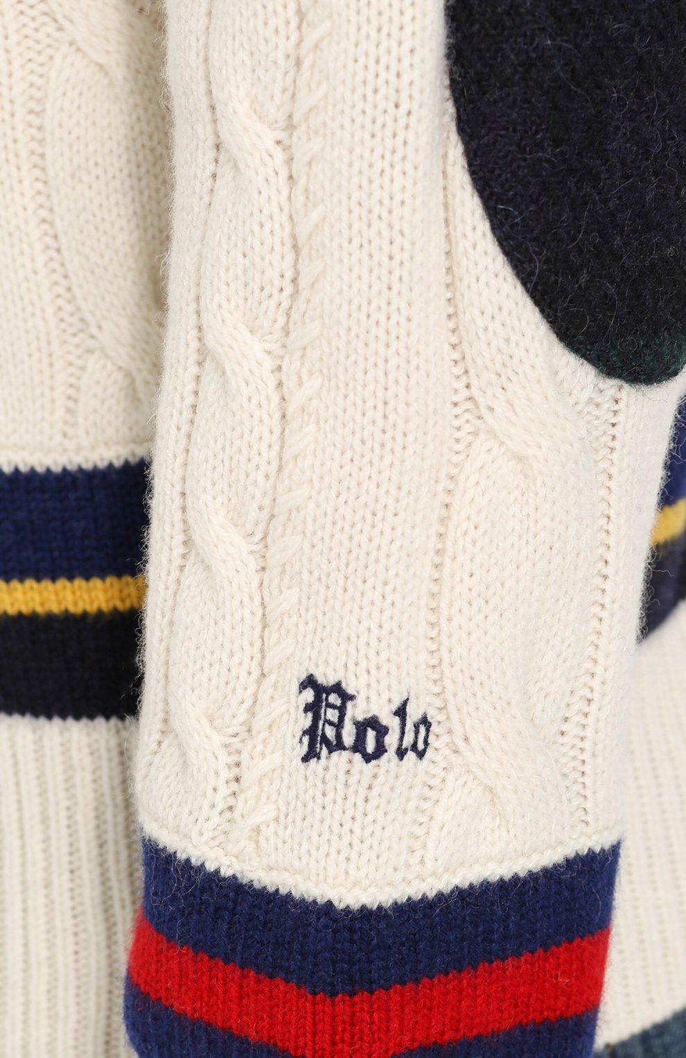 Джемпер фактурной вязки из смеси шерсти и кашемира | Фото №6