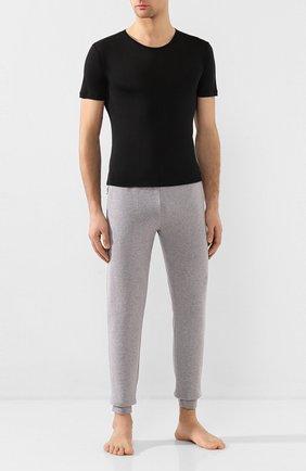 Мужская шелковая футболка ZIMMERLI черного цвета, арт. 852-1406 | Фото 2