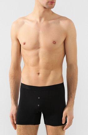 Мужские шелковые боксеры с широкой резинкой ZIMMERLI черного цвета, арт. 852-1408 | Фото 2