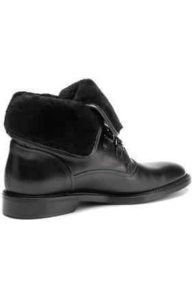 Кожаные ботинки Milano с внутренней меховой отделкой Dolce & Gabbana черные | Фото №4