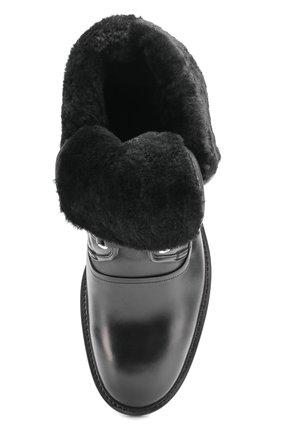 Кожаные ботинки Milano с внутренней меховой отделкой Dolce & Gabbana черные | Фото №5