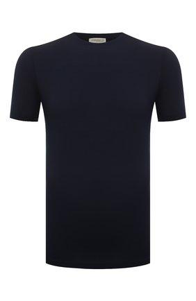 Мужские футболка ZIMMERLI темно-синего цвета, арт. 700-1341 | Фото 1