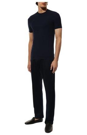Мужские футболка ZIMMERLI темно-синего цвета, арт. 700-1341 | Фото 2