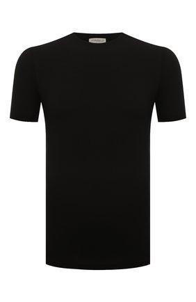 Мужские футболка ZIMMERLI черного цвета, арт. 700-1341 | Фото 1