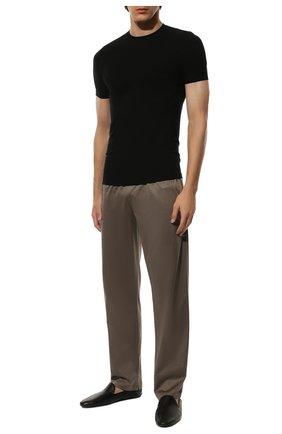 Мужская футболка ZIMMERLI черного цвета, арт. 700-1341 | Фото 2