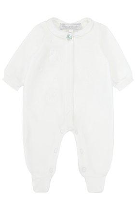 Детский хлопковый комбинезон с вышивкой TARTINE ET CHOCOLAT белого цвета, арт. TK54021/1M-18M | Фото 1