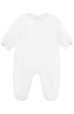 Детский хлопковый комбинезон с вышивкой TARTINE ET CHOCOLAT белого цвета, арт. TK54021/1M-18M | Фото 2