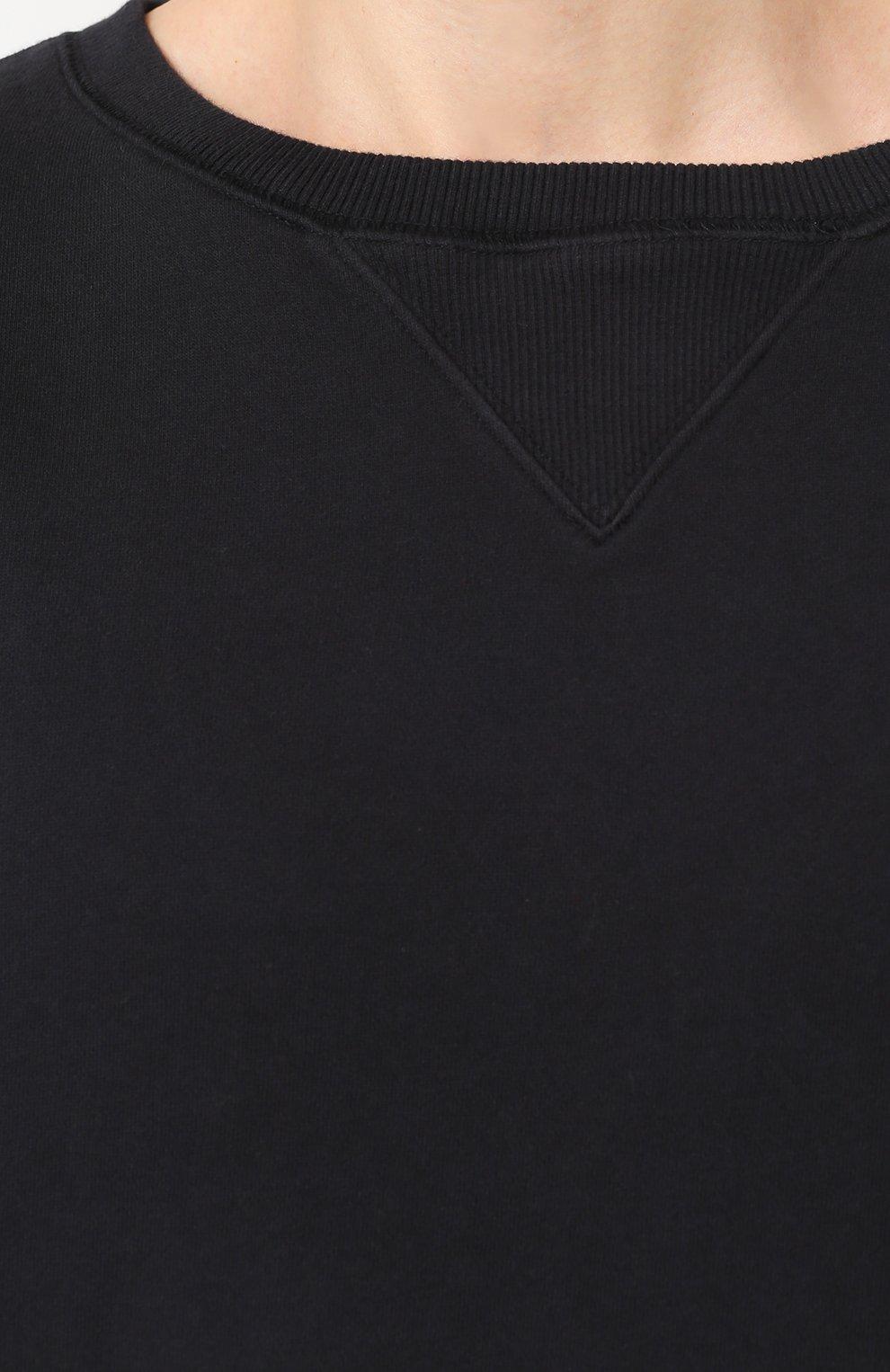 Хлопковый свитшот свободного кроя  | Фото №5
