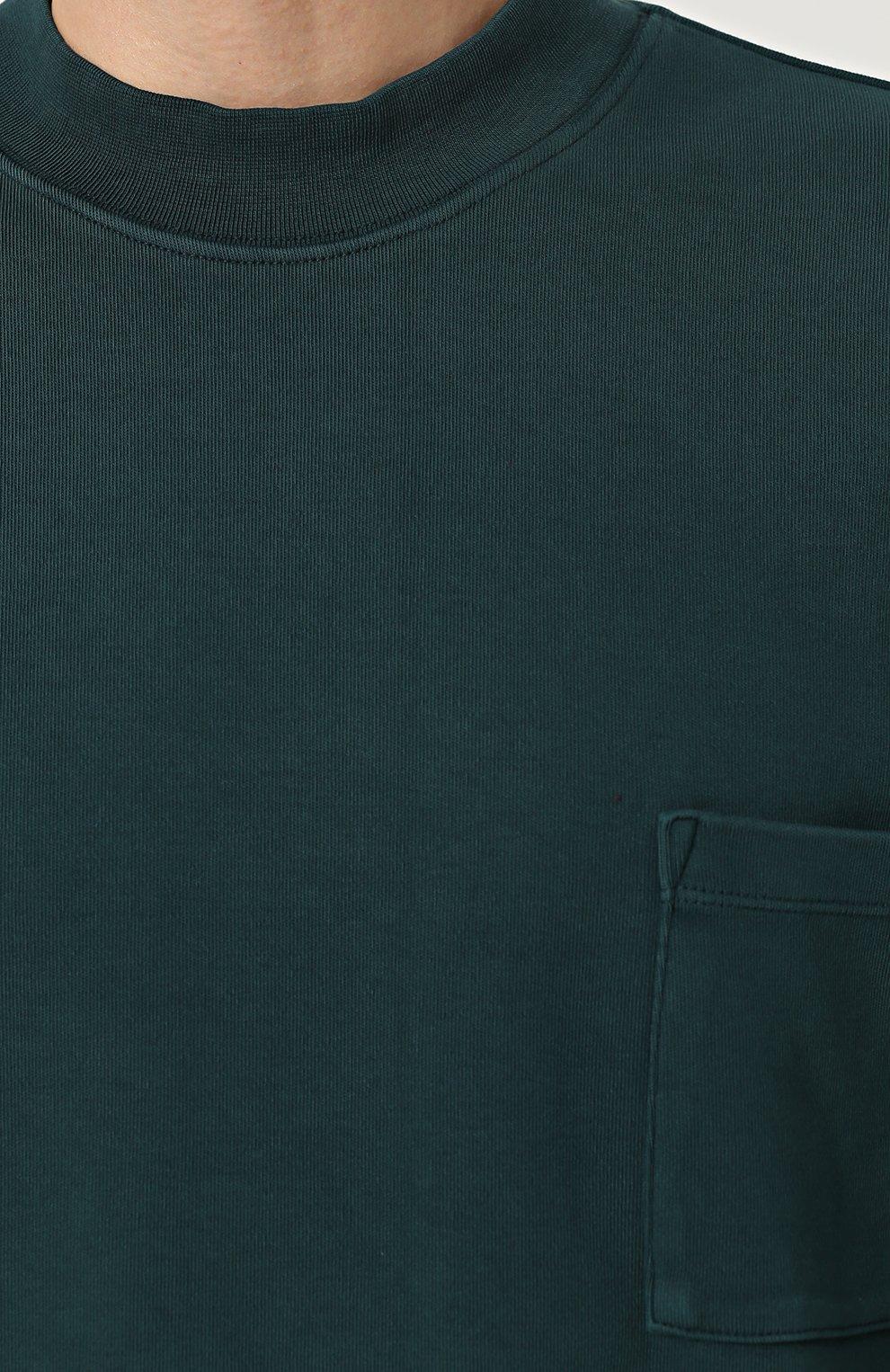 Удлиненный хлопковый свитшот | Фото №5