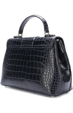 Сумка Lucia из кожи крокодила Dolce & Gabbana темно-синяя цвета | Фото №2