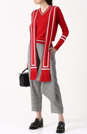 Пуловер из смеси шерсти и шелка с кашемиром Victoria/Tomas красный   Фото №1