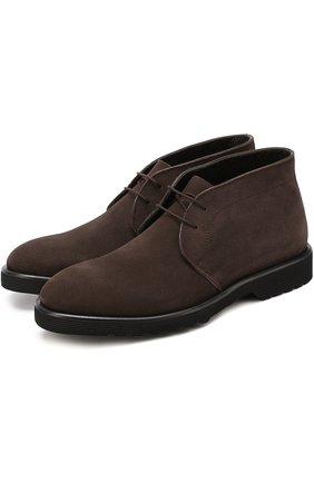 Замшевые ботинки на шнуровке