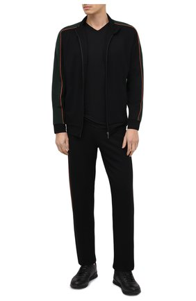 Мужская футболка из смеси хлопка и вискозы с v-образным вырезом ZIMMERLI черного цвета, арт. 186-1422 | Фото 2