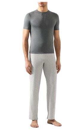 Мужские футболка ZIMMERLI серого цвета, арт. 700-1341 | Фото 2